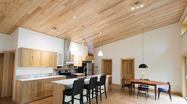 pose lambris plafond bois, pvc Vertus (51130)